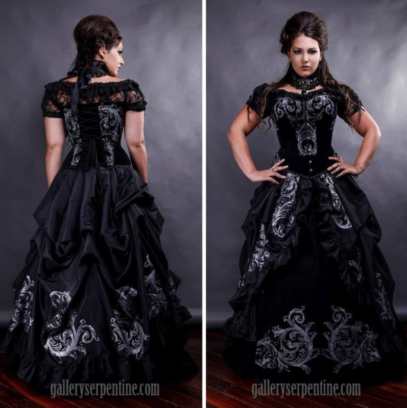 1367c31a24e5 Gothic Gown with Scrolls – Steampunk Lifestyle